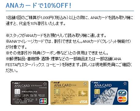 ANAカード割引