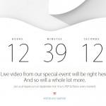 Appleのホームページでカウントダウンが始まったよ