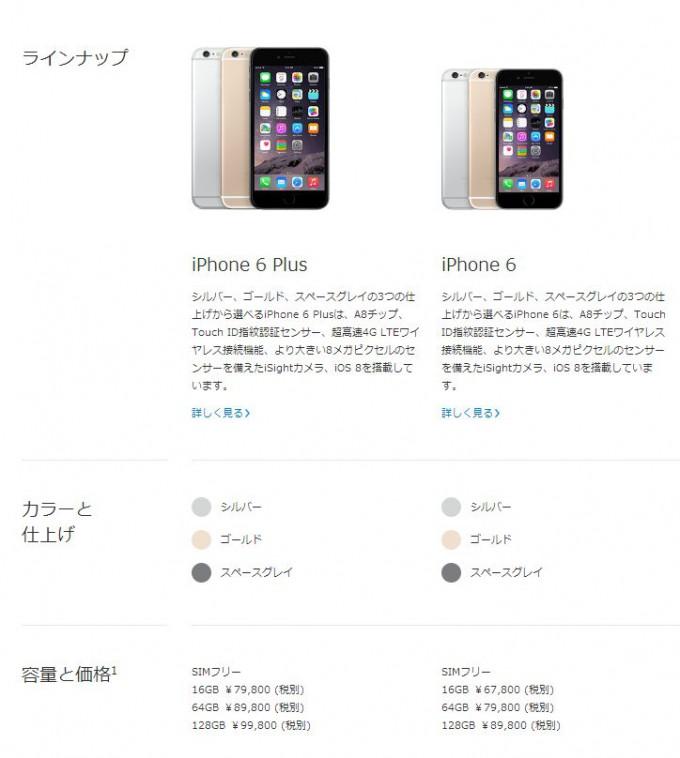 Apple simフリーiPhone6