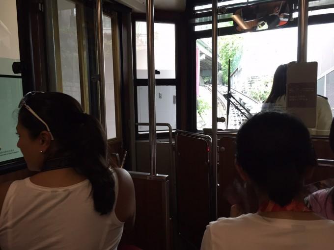 ピークトラムに乗車