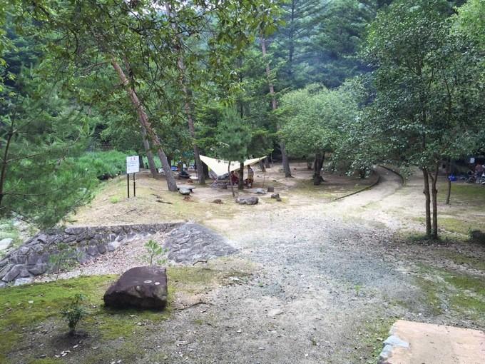 山野峡 キャンプ場