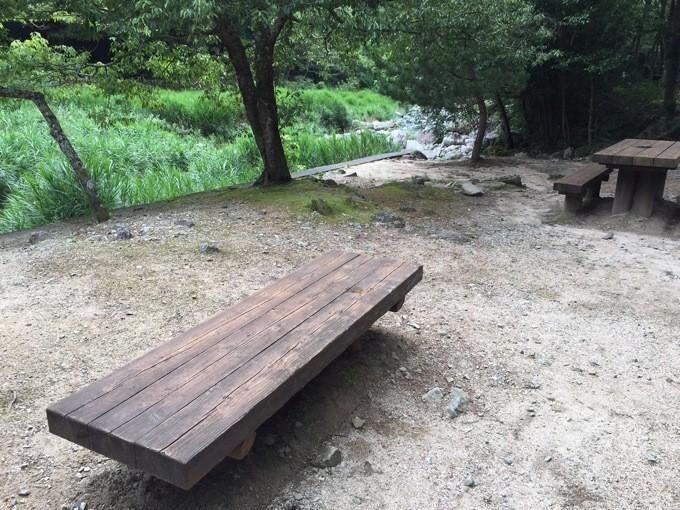 山野峡 キャンプ場 椅子