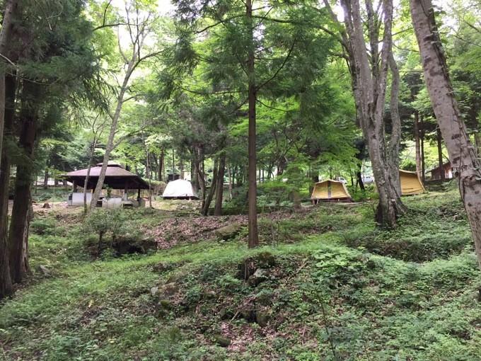 山野峡 キャンプ