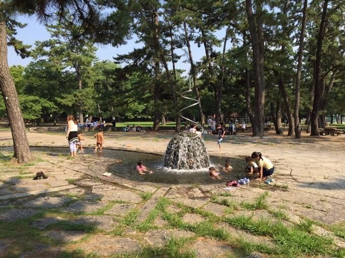 酒津公園 親水広場