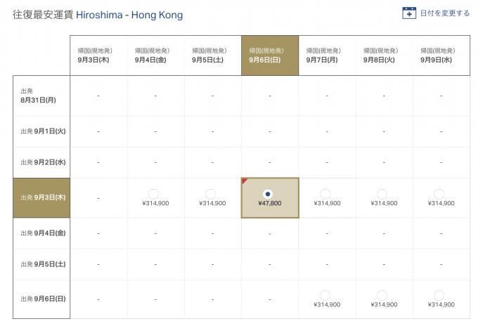 香港ドラゴン航空 運賃