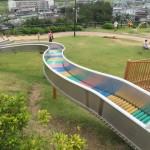 岡山県のつばきの丘運動公園はローラー滑り台や大型遊具が盛りだくさん!