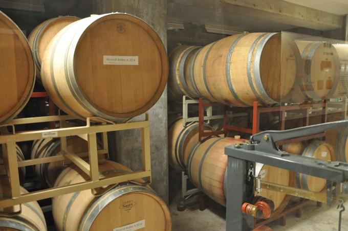 三次ワイナリー 貯蔵庫 ワイン