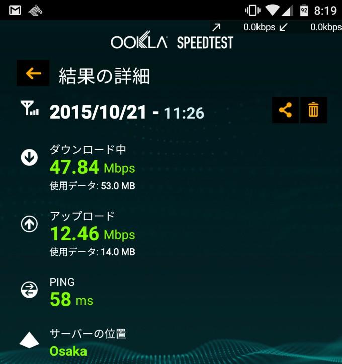 DMM mobile 速度 広島県