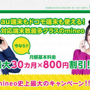 mineo キャンペーン