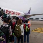 香港エクスプレスの香港から広島への便に搭乗してきました
