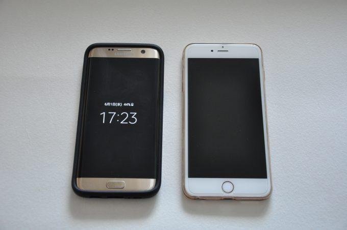 iPhone6s plus Galaxy S7 edge
