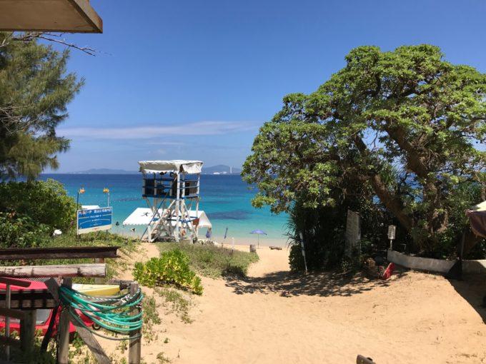 大泊ビーチ 風景