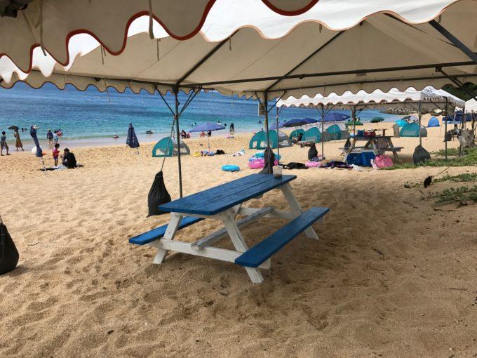 大泊ビーチ テント 大きさ