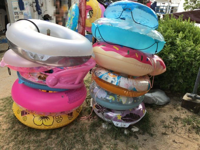 大泊ビーチ 浮き輪